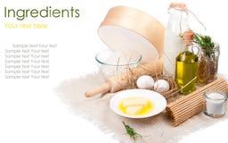 De close-up van ingrediënten Stock Afbeelding