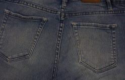 De close-up van jeanszakken stock foto