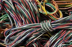 De close-up van kabels stock foto's