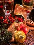 De close-up van Kerstmisballen Stock Foto