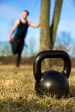 De close-up van Kettlebell Stock Afbeeldingen
