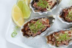 De close-up van Kilpatrick van oesters stock foto's