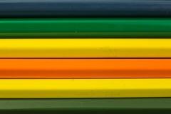 De close-up van kleurpotloden Royalty-vrije Stock Afbeeldingen
