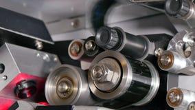 de Close-up van 35 mm-Filmprojectortoestellen stock footage