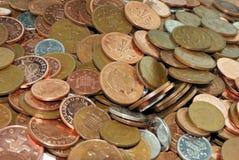 De close-up van muntstukken Royalty-vrije Stock Afbeelding