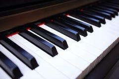 De Close-up van pianosleutels royalty-vrije stock fotografie