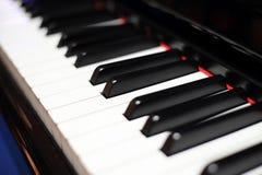 De Close-up van pianosleutels stock foto