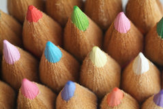 De close-up van potloden stock illustratie