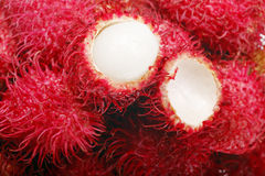 De close-up van Rambutan Royalty-vrije Stock Afbeeldingen