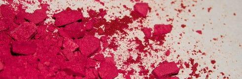 De close-up van rood oogschaduwpoeder, maakt omhoog, glamour, charme, manier stock afbeelding