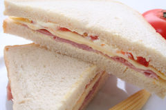 De close-up van sandwiches Stock Afbeelding