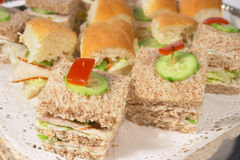 De close-up van sandwiches royalty-vrije stock fotografie