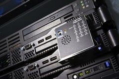 De close-up van servers Stock Foto