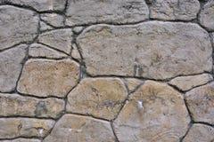 De close-up van de steenmuur van rotspatroon Stock Afbeelding