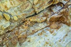 De close-up van de stollingsgesteentelava Stock Foto