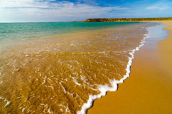 De Close-up van strandgolven royalty-vrije stock fotografie