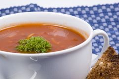 De close-up van Tomatosoup Royalty-vrije Stock Afbeelding