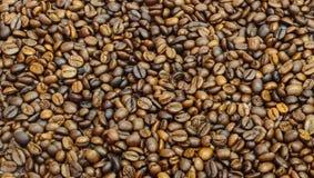 De close-upachtergrond van koffiebonen Royalty-vrije Stock Foto