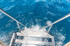 De close-upbeeld van de schipladder stock afbeelding