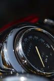De close-upmening van de motorfietssnelheidsmeter Macro spruit Royalty-vrije Stock Afbeelding