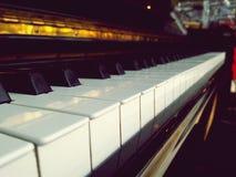 De close-upmening van het pianotoetsenbord Royalty-vrije Stock Fotografie