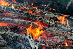 De close-ups van de brand Stock Afbeeldingen