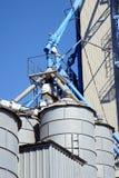 De close-upverticaal van silo's Royalty-vrije Stock Afbeelding