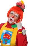 De clown Gesturing roept me Stock Afbeeldingen
