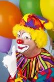 De clown heeft een Geheim stock fotografie