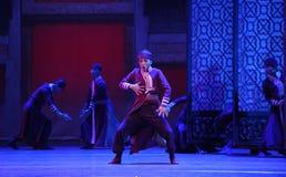 De clown-Le acte d'abord des événements de drame-Shawan de danse du passé Image libre de droits
