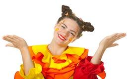 De clown maakt pret Royalty-vrije Stock Afbeeldingen