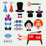 De Clown van de circuspret Stock Afbeeldingen