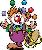 De clown van de kleur royalty-vrije illustratie