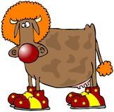 De Clown van de koe Stock Fotografie