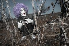 De clown van de maniak stock foto's