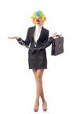 De clown van de vrouw Stock Fotografie