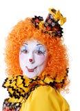 De Clown van het circus Stock Foto