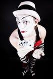 De clown van het circus met speelkaarten Stock Foto's