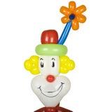 De clownhoofd van de ballon Stock Afbeelding