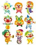 De clownpictogram van het beeldverhaal Stock Foto's