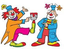 De clowns van het beeldverhaal Royalty-vrije Stock Foto