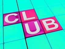 De club blokkeert toont Discobars of Nachtleven royalty-vrije illustratie