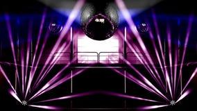 De club kleurrijke lichten van de nacht en discoballen Royalty-vrije Stock Foto's