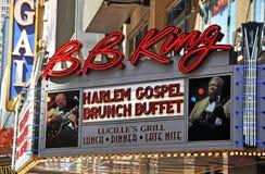 De Club van de Blauw van de Koning van BB & de Straat van de Grill tweeënveertigste, New York Stock Foto's