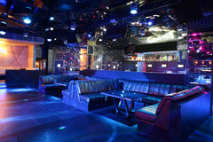 De club van de luxenacht in Europese stijl Stock Fotografie