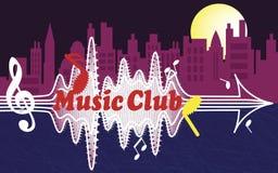 De club van de stadsmuziek Stock Fotografie