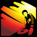 De club van DJ stock illustratie