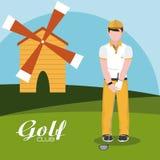 De club van het golfconcept royalty-vrije illustratie