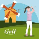 De club van het golfconcept vector illustratie