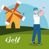 De club van het golfconcept stock illustratie